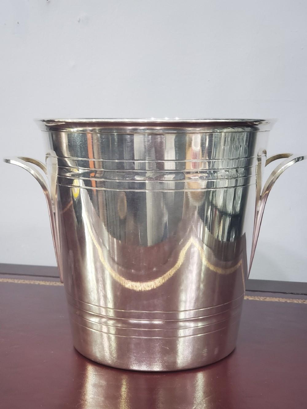 french art deco st medard champagne bucket cooler c1930