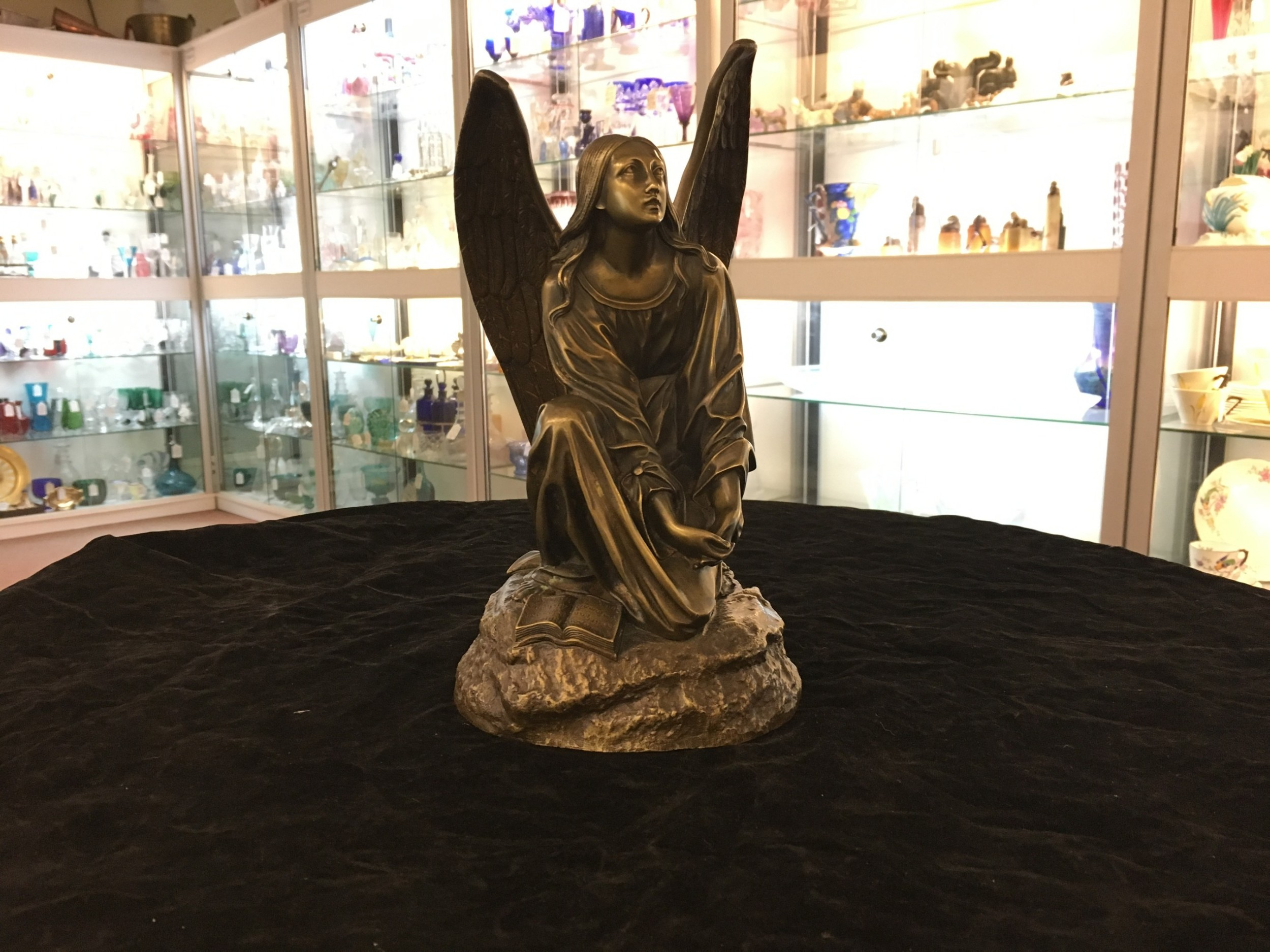 bronze angel by thomas cecher c1880