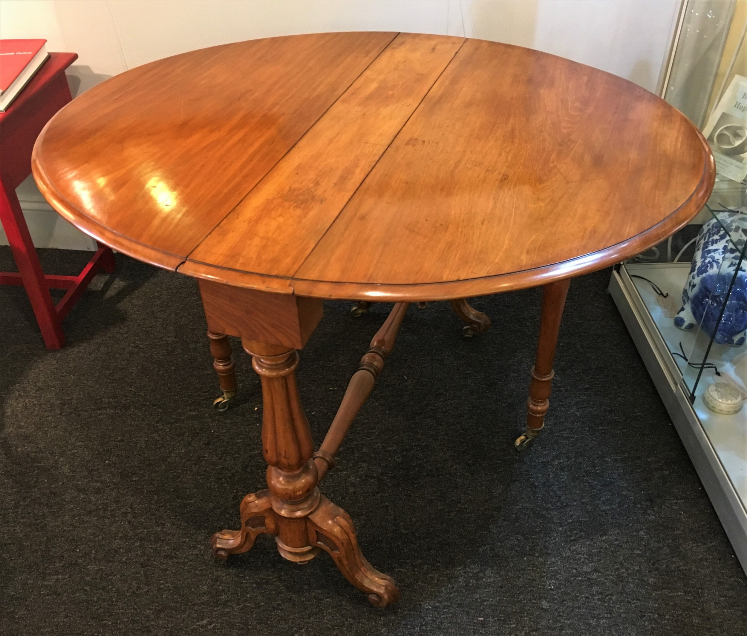 walnut sutherland supper or breakfast table c1870