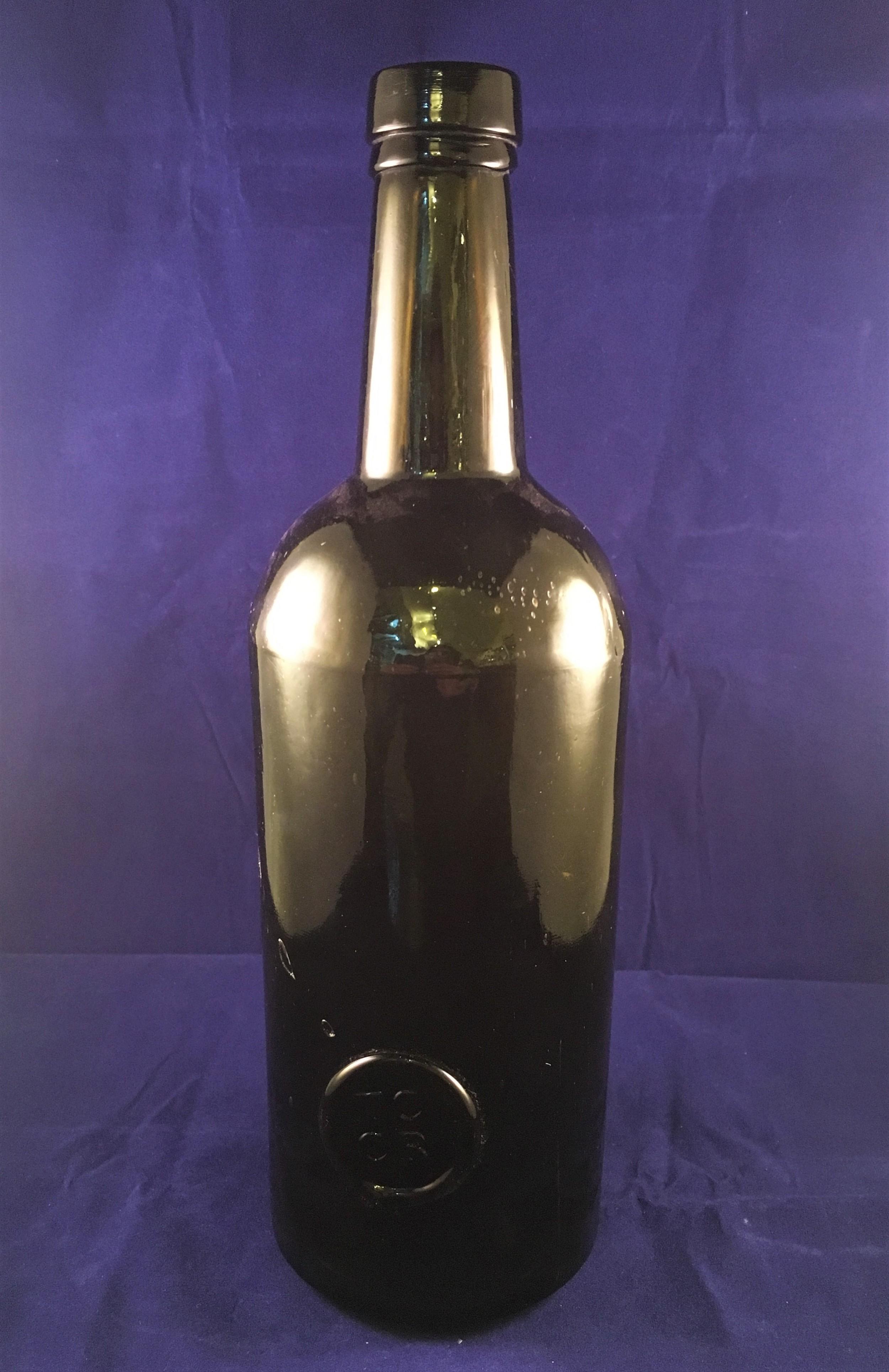 tccr sealed bottle dark green colour c19th