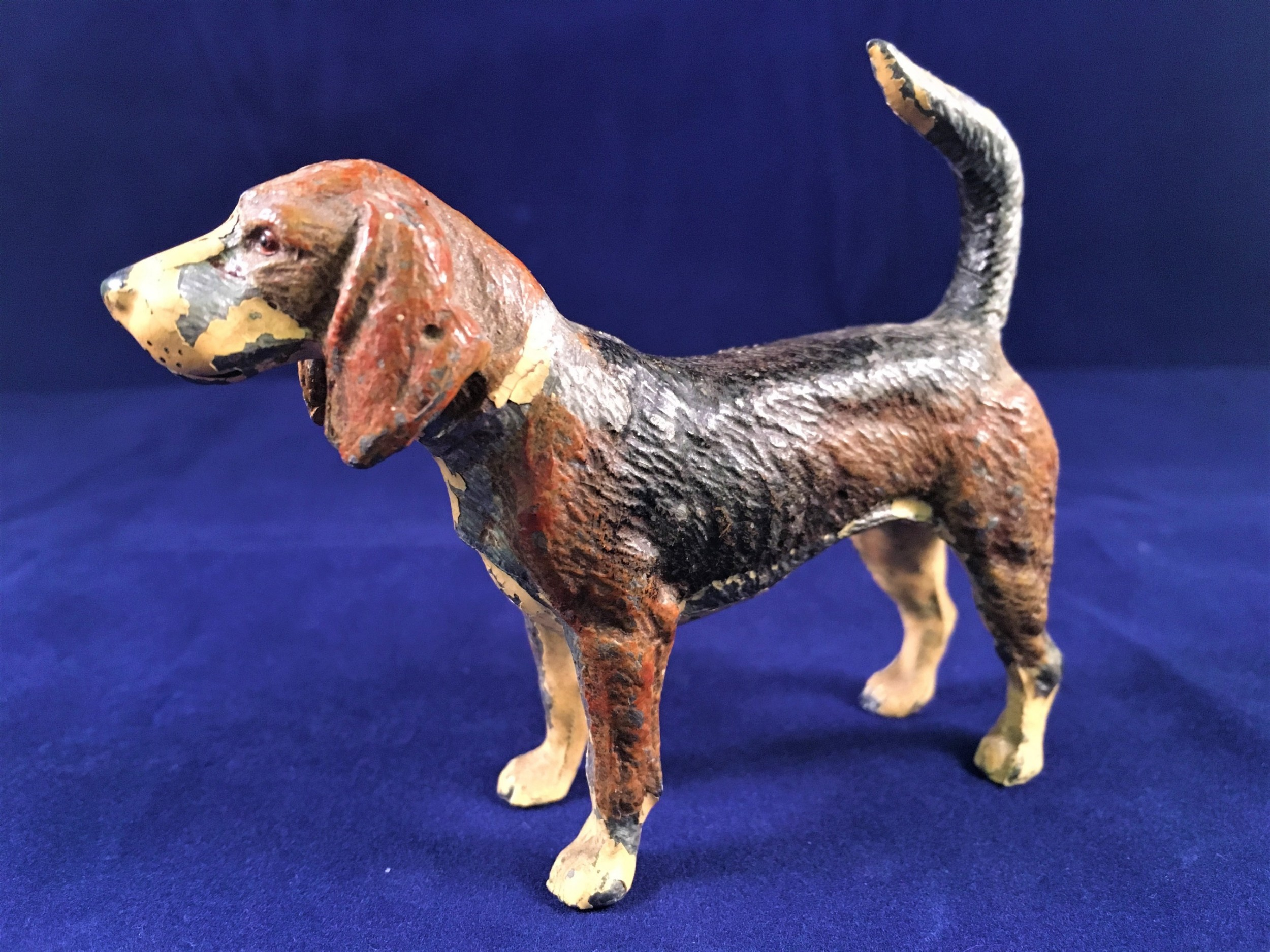 cold painted hound early c20th