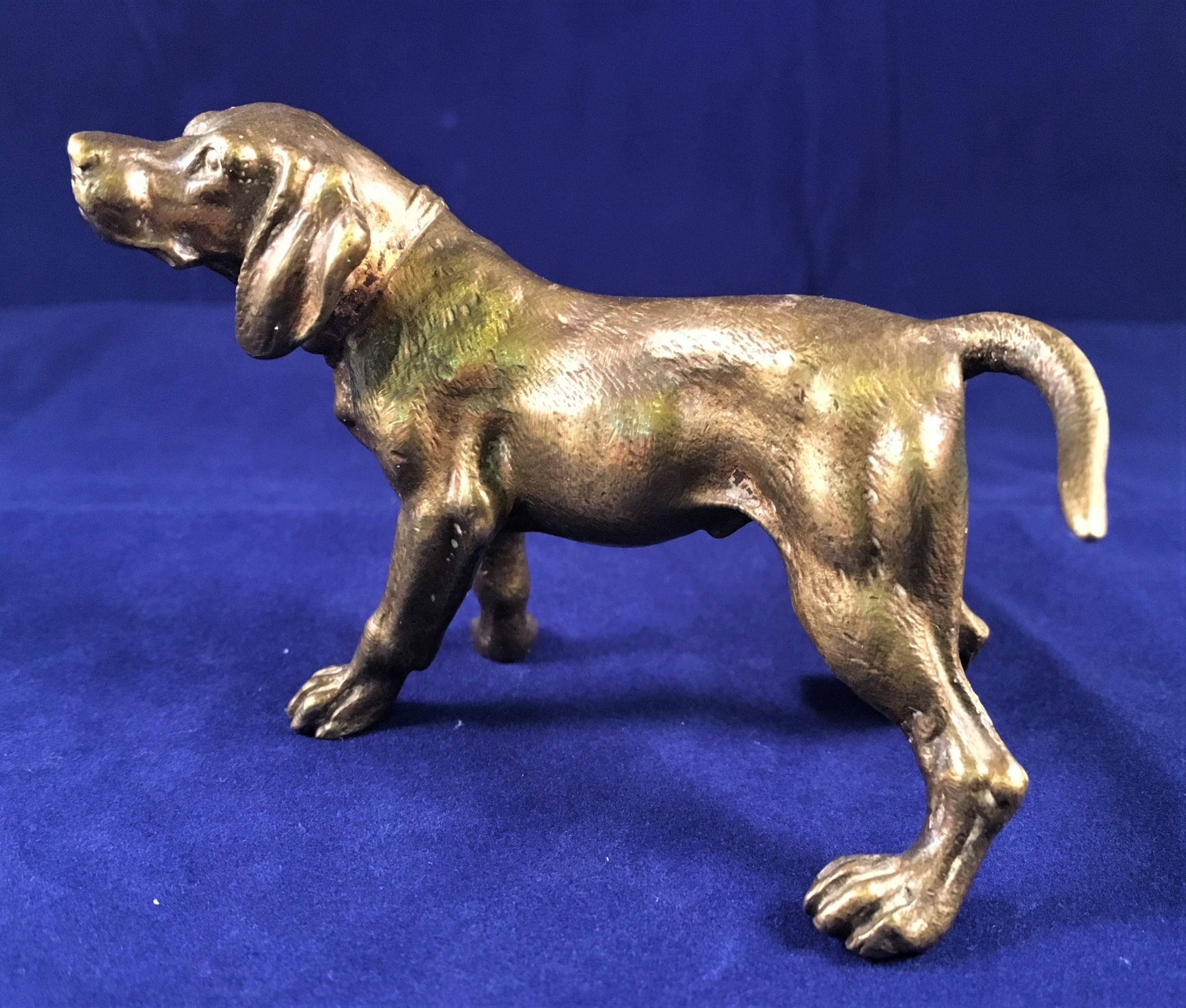 bronze hound early c20th