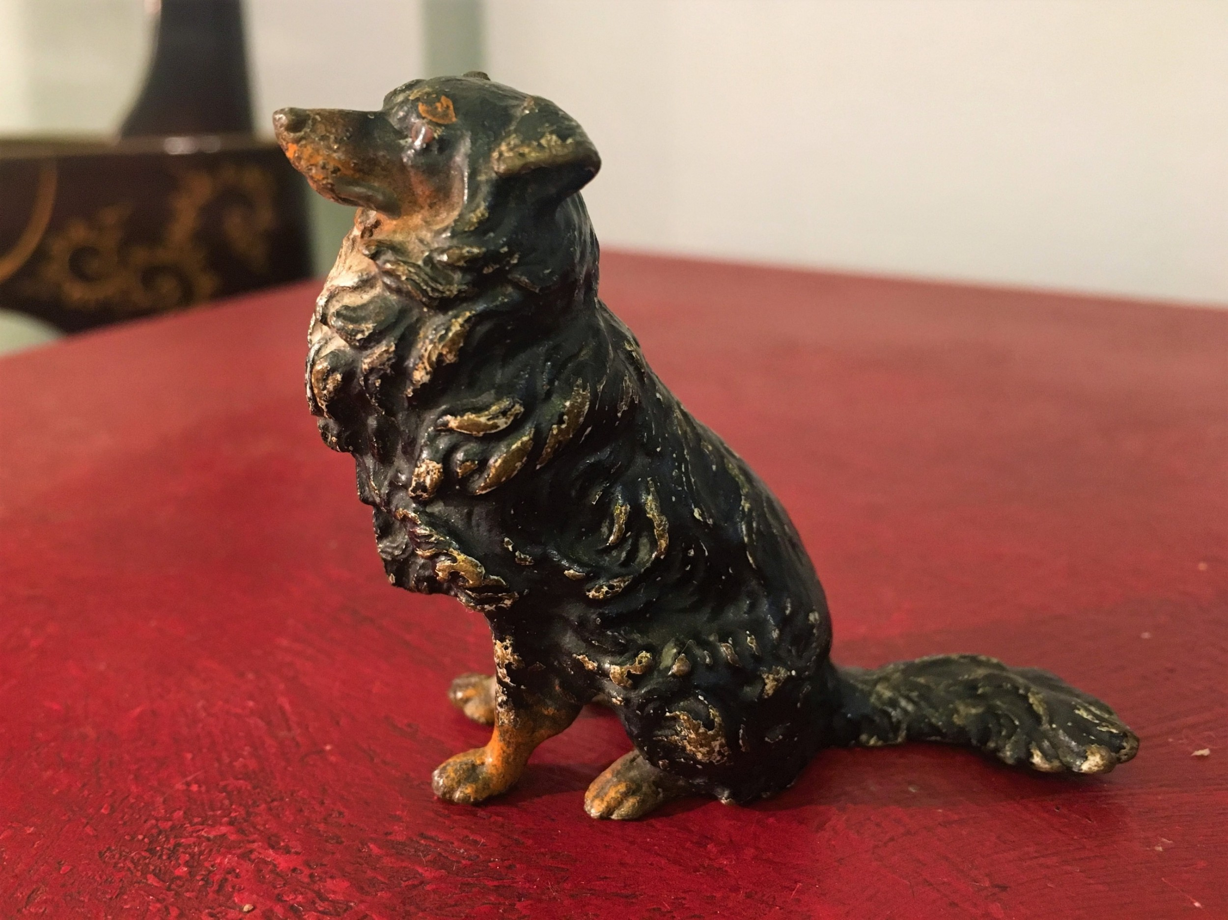 cold painted bronze collie dog c191020