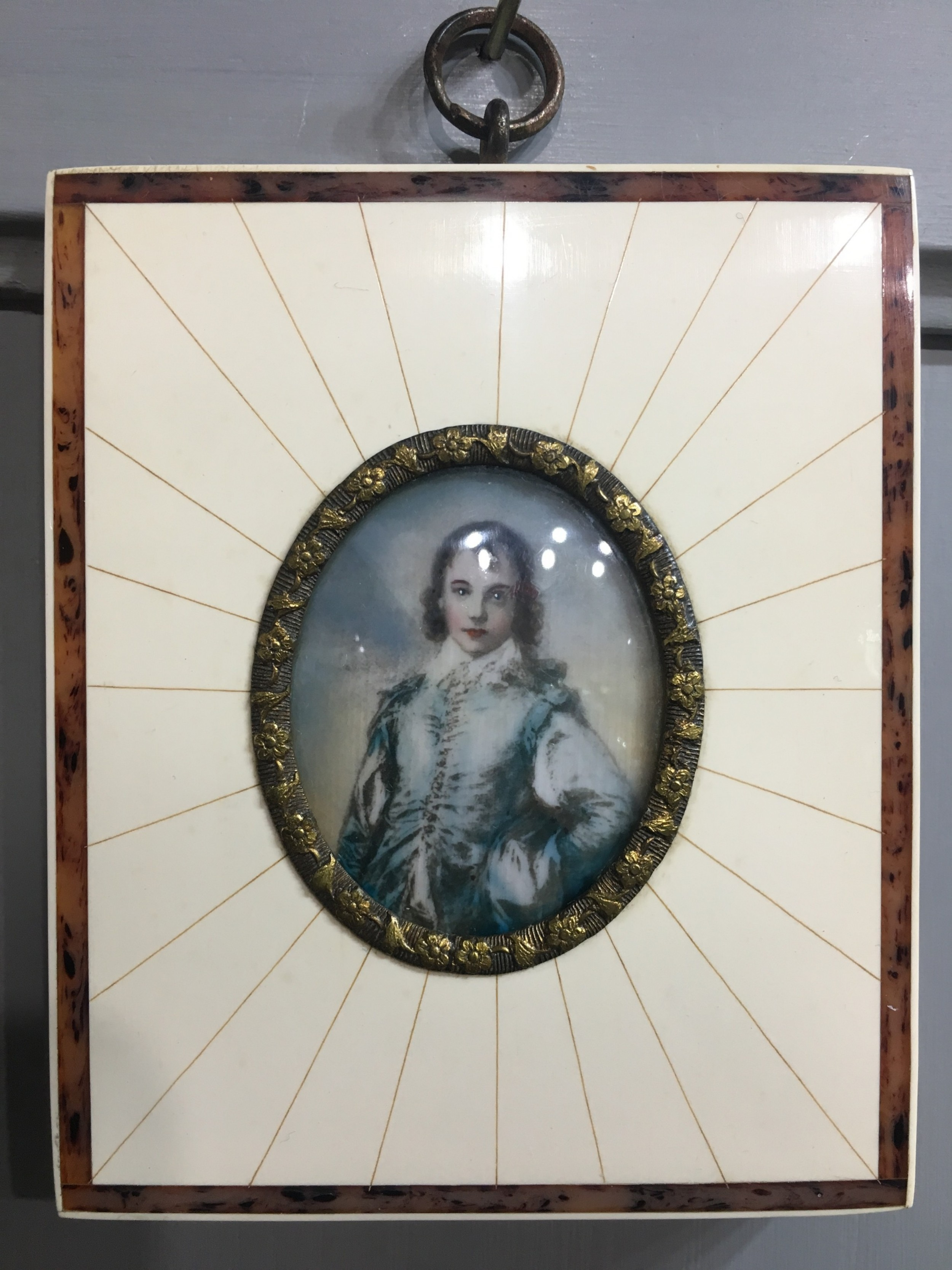miniature portrait of an c18th gentleman early c20th