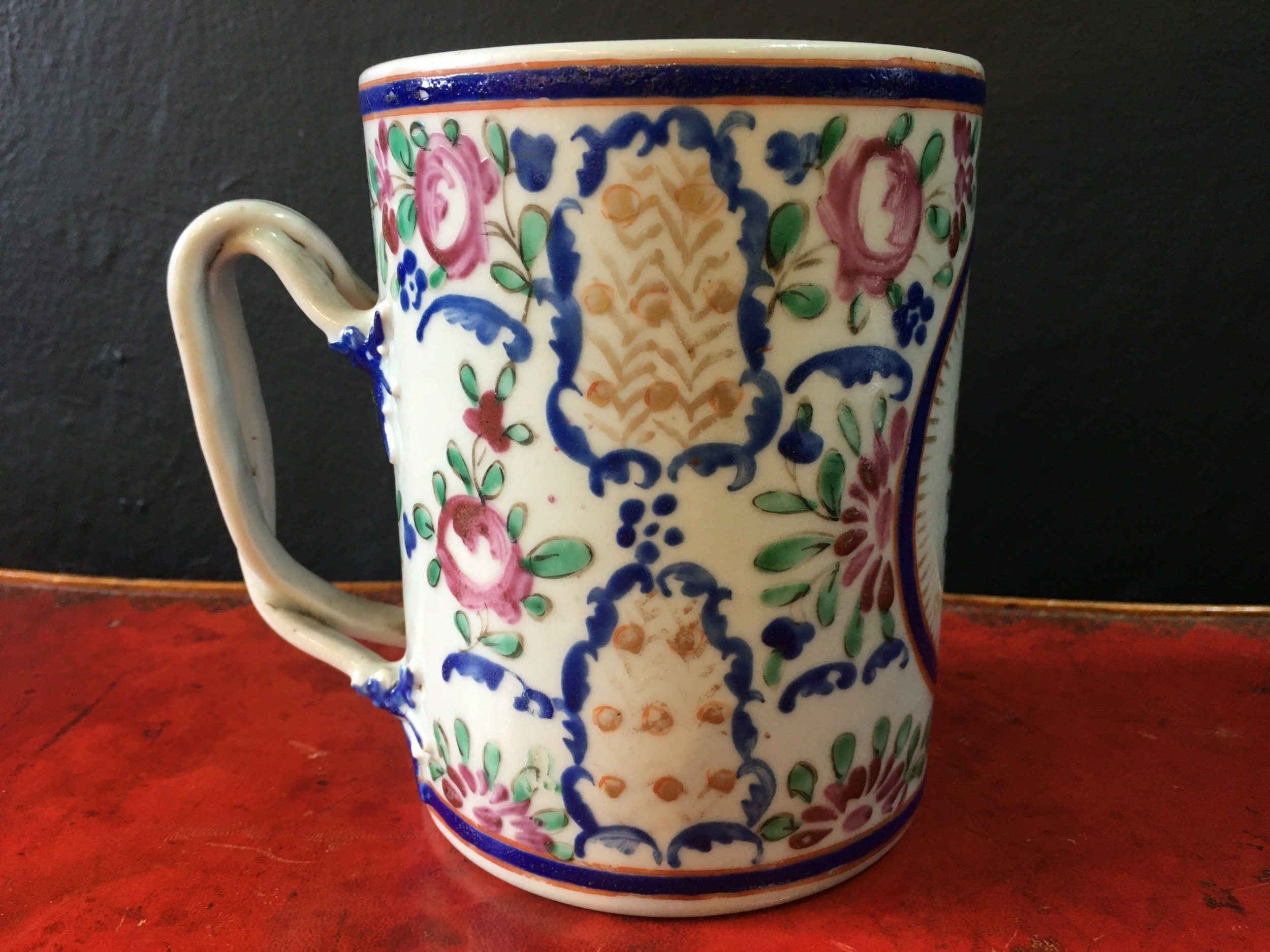 qianlong famille rose tankard rose pattern c18th