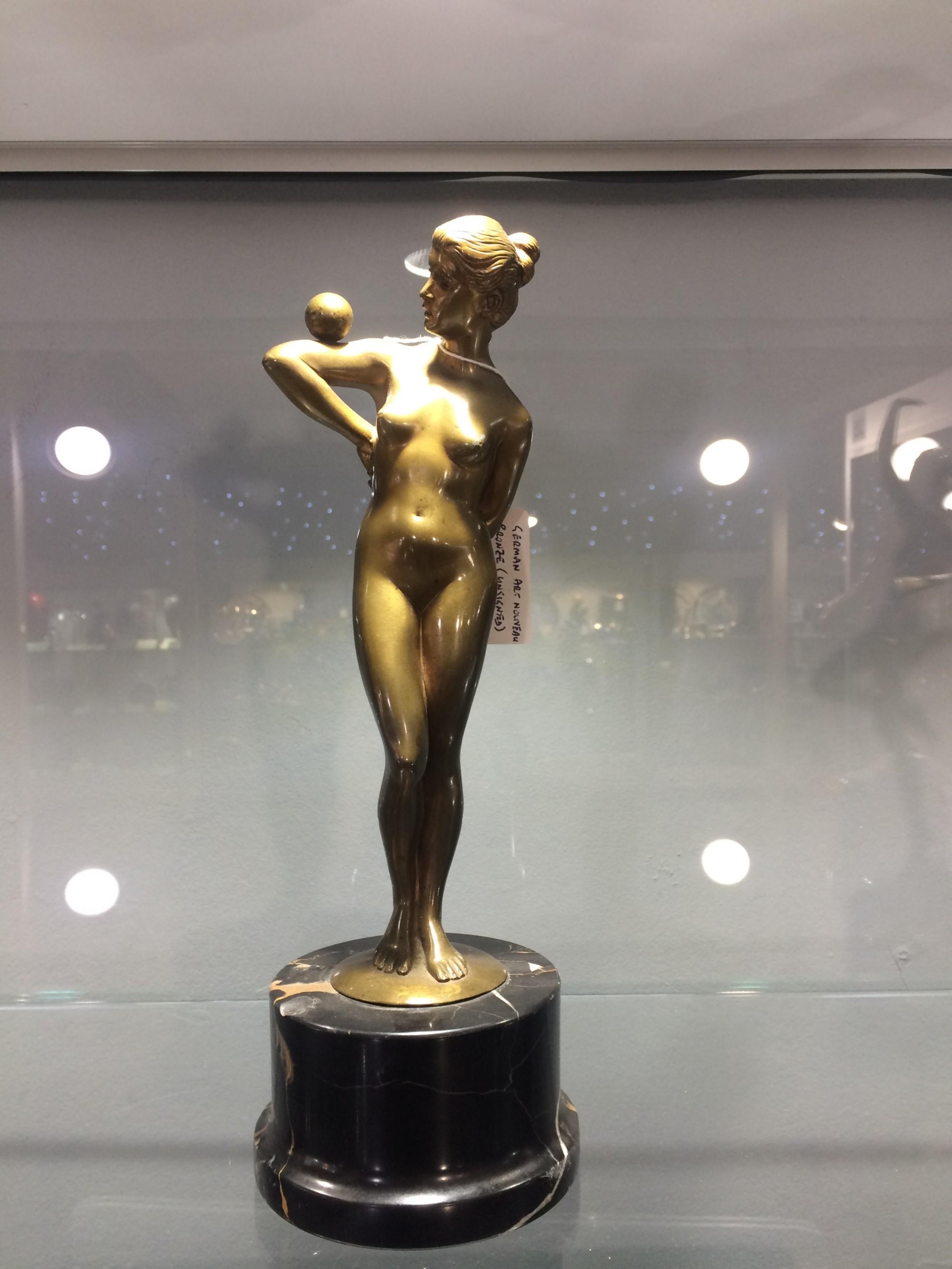 german art nouveau bronze unsigned original casting c1910