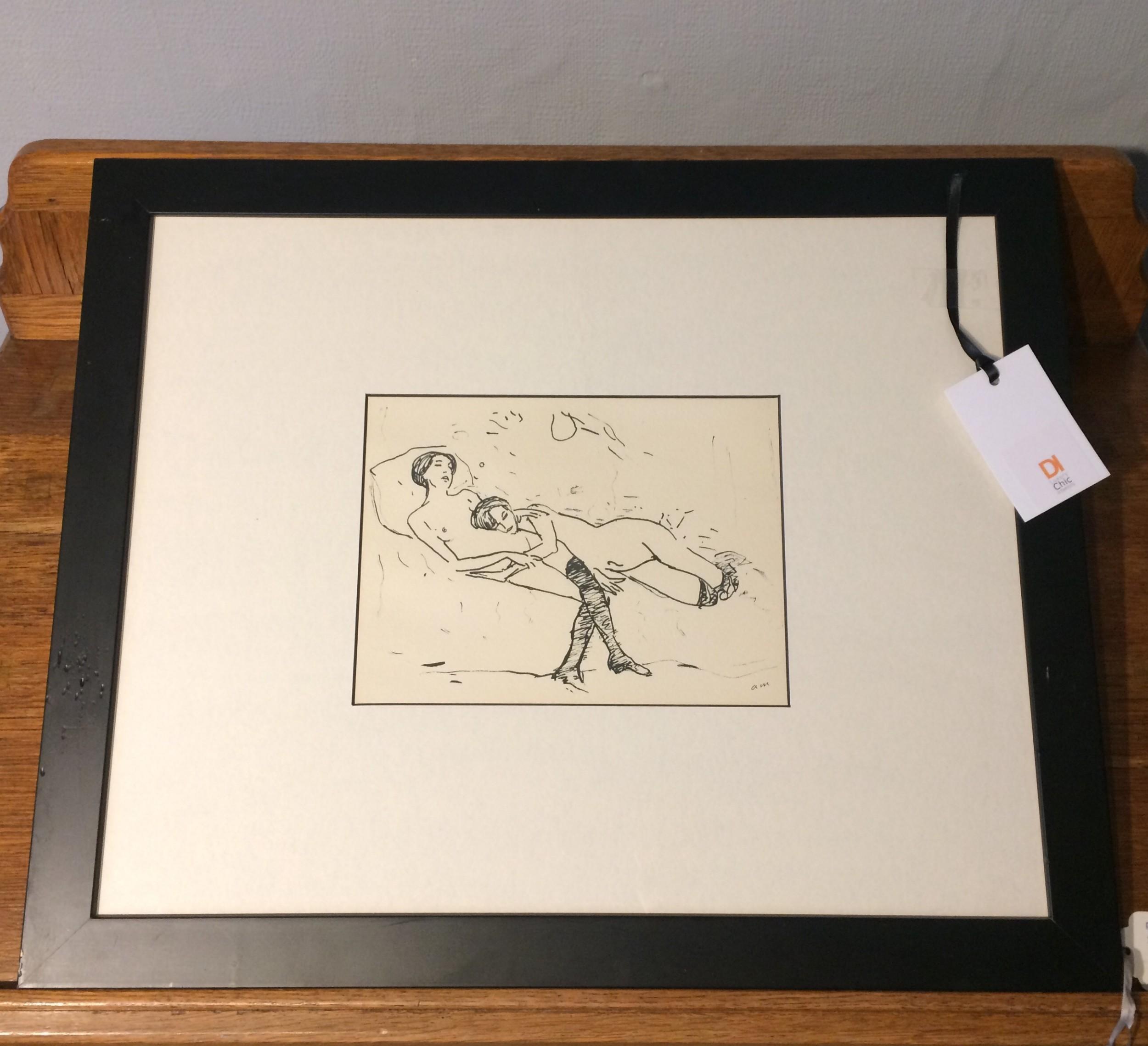 albert marquet original lithographic print signed c1930 art deco
