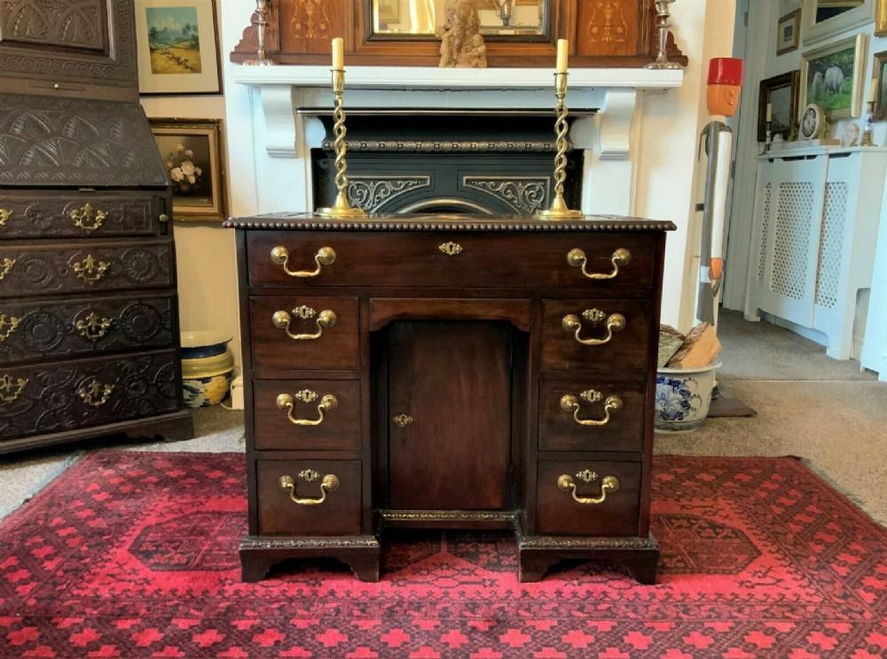 fine small period georgian cuban mahogany kneehole desk by jewell's of london