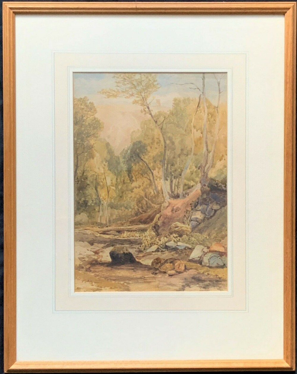'henry barlow carter' 18041868 original 1830 woodland watercolour painting