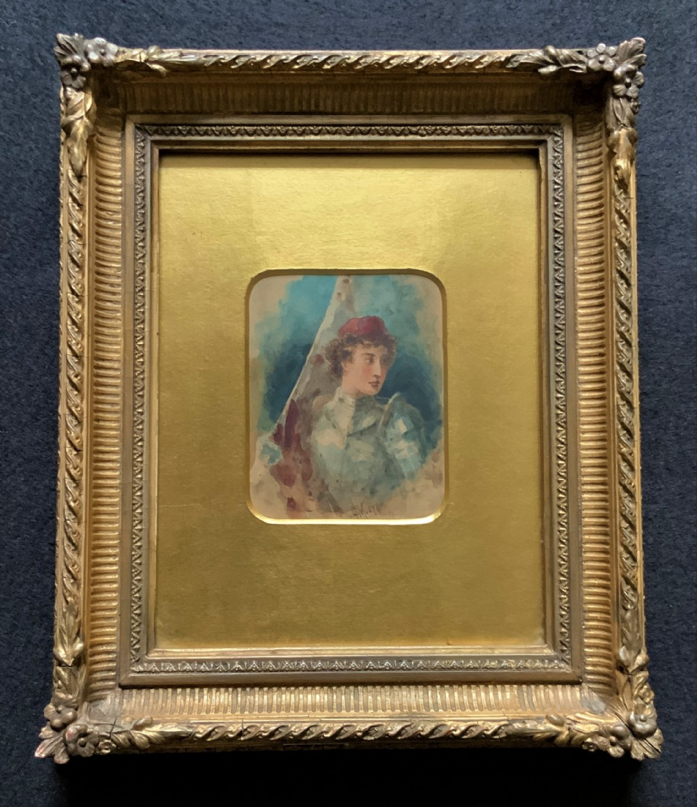 'claude thomas stanfield moore' 18531901 exhibition quality portrait painting