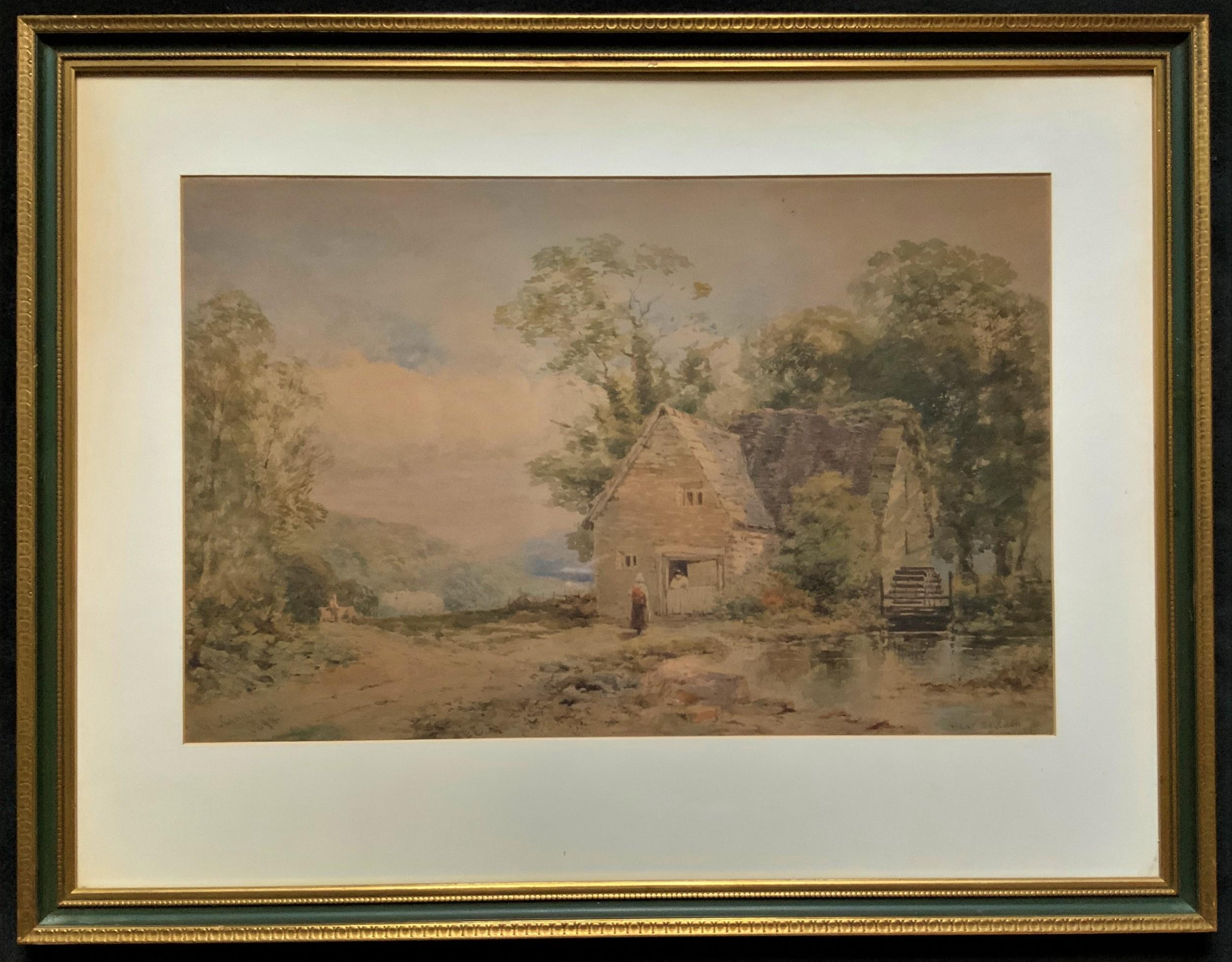 william charles goddard exh1885 near saltash cornish landscape painting