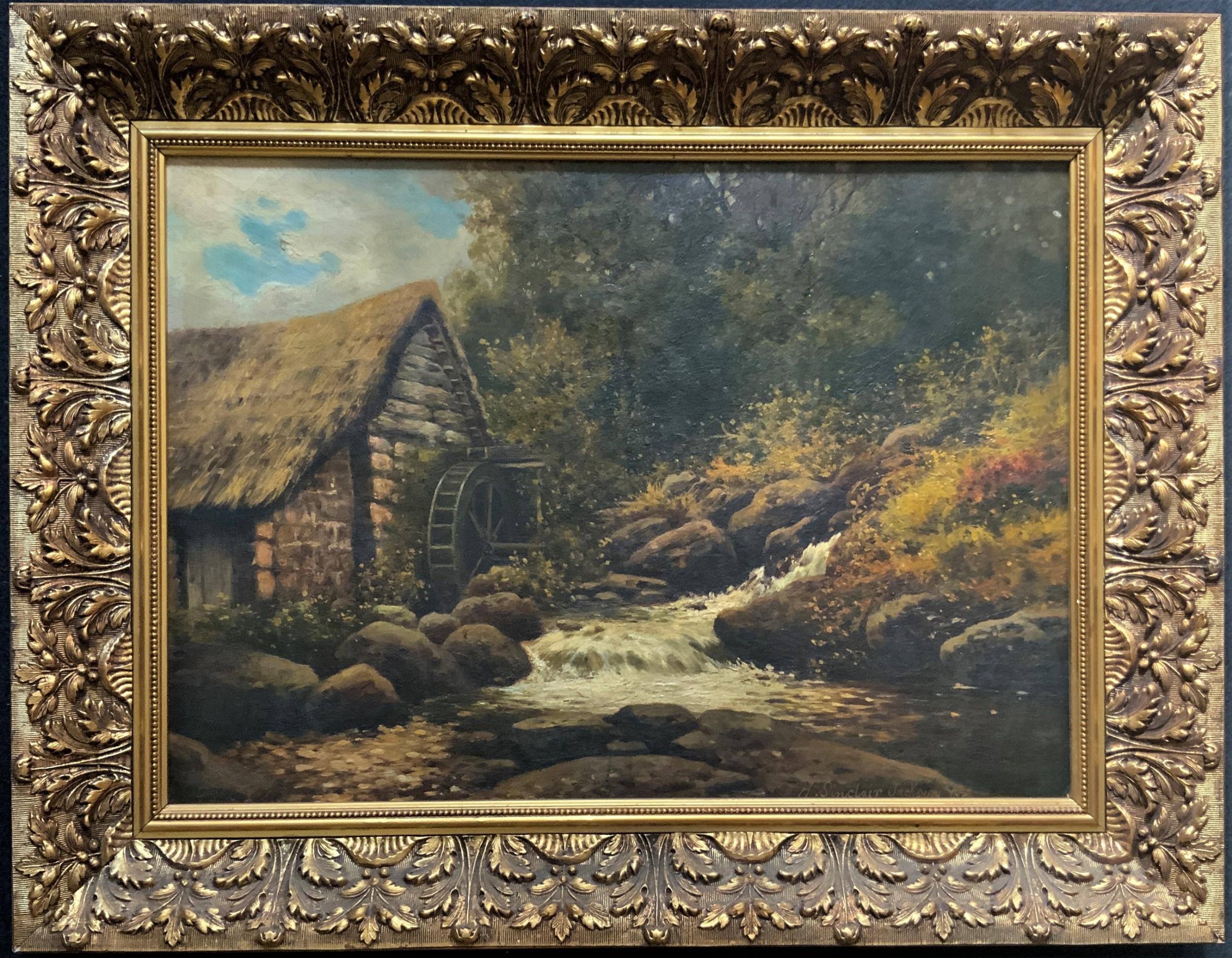 h sinclair jackson fl 18871896 superb 19thc watermill landscape oil painting