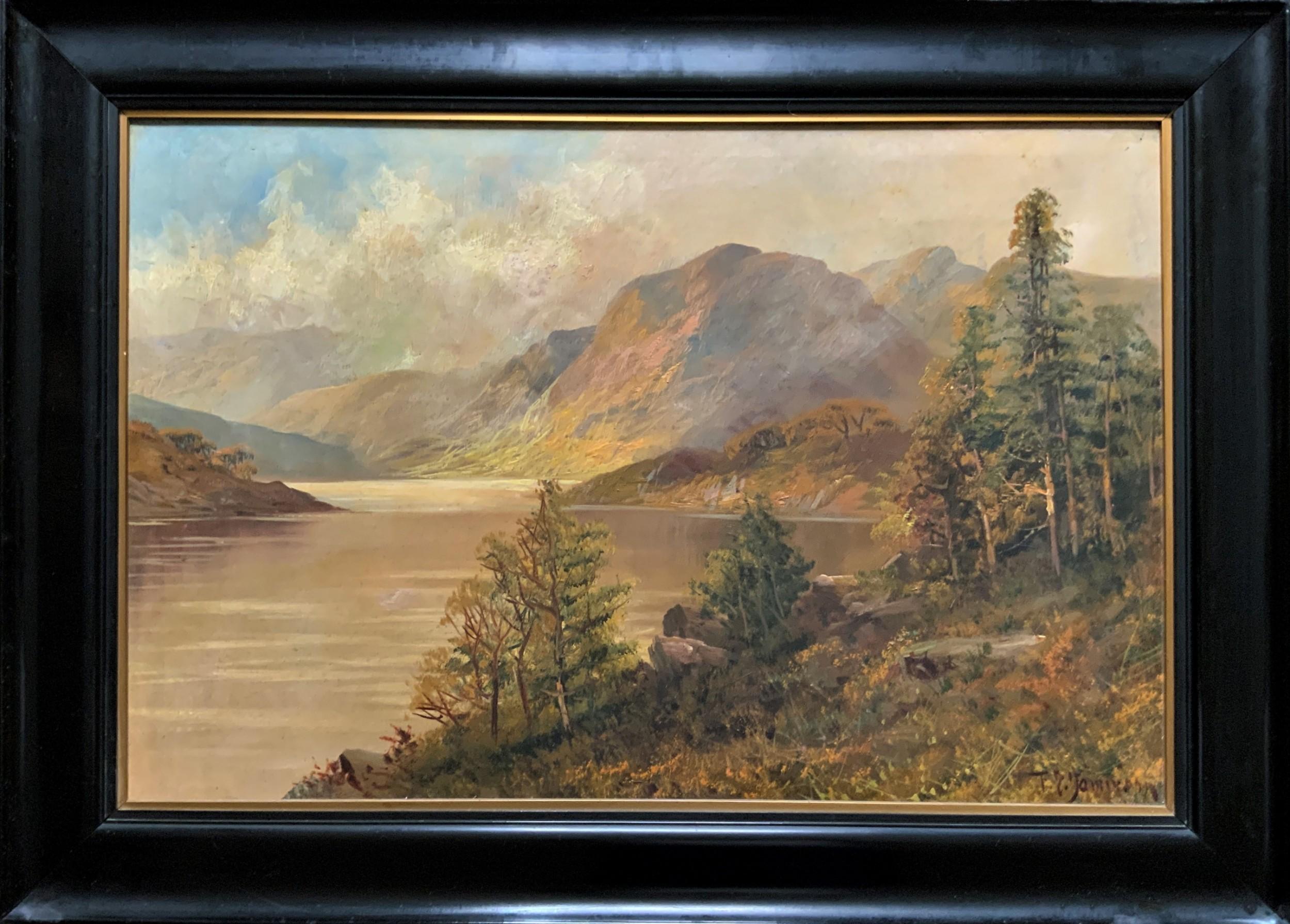 'f e jamieson' an original scottish highland loch landscape oil painting for tlc