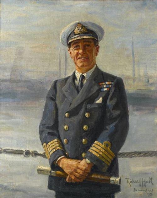 richard hall 18521942 portrait of rear admiral james sacheverell constable salmond rn 18821958