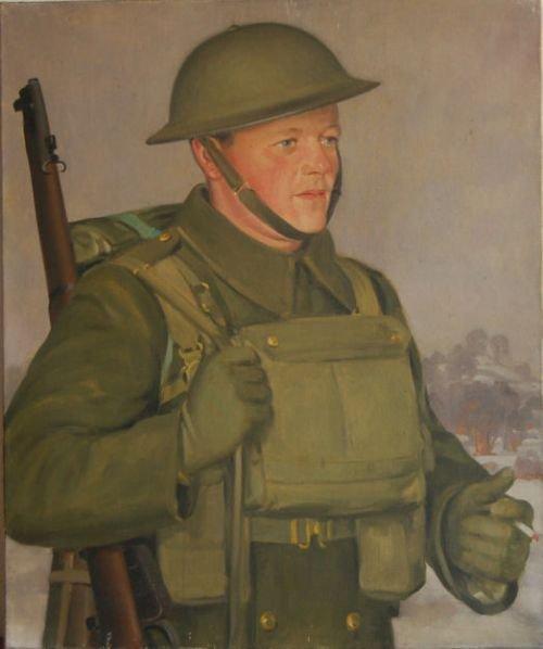 portrait of private pete hobbs norton barracks worcester 1941 by ernest waldron west 19041994