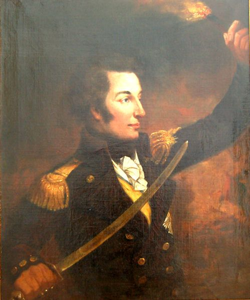 robert ker porter 1777 1842 portrait of admiral sir william sidney smith 17641840 holding a sword and a torch