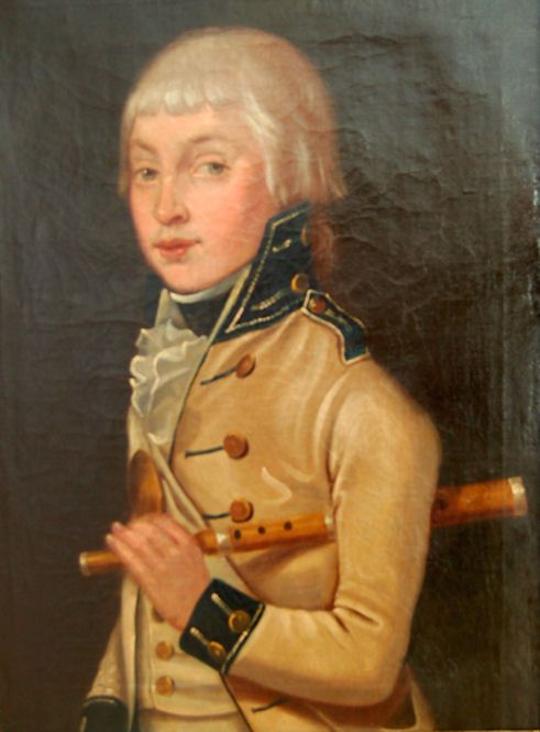english school 18th century portrait of a young fifer in military dress possibly from a yorkshire militia band
