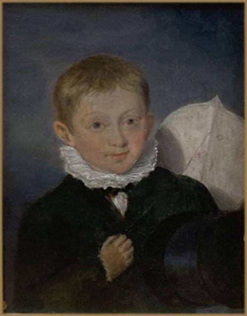 edward bird ra 1772 1819portrait of henry ricketts circa 17831859 bristol glass maker as a young child