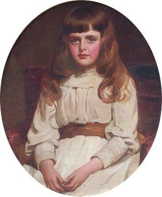 portrait of a young girl called francesca by emily hayward fl 18801890