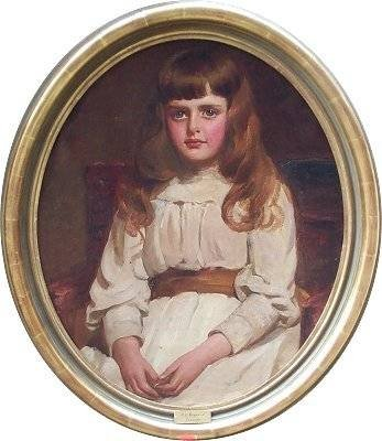 portrait of a young girl called francesca by emily hayward fl 18801890 - photo angle #2