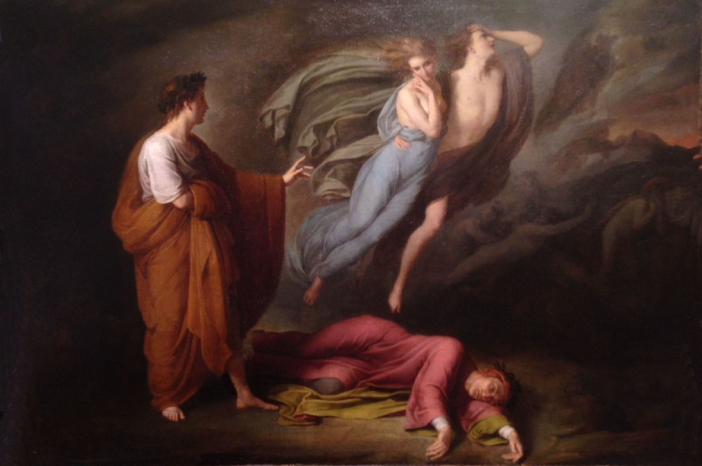 ary scheffer 1795 1858 dante and virgil with paola and francesca