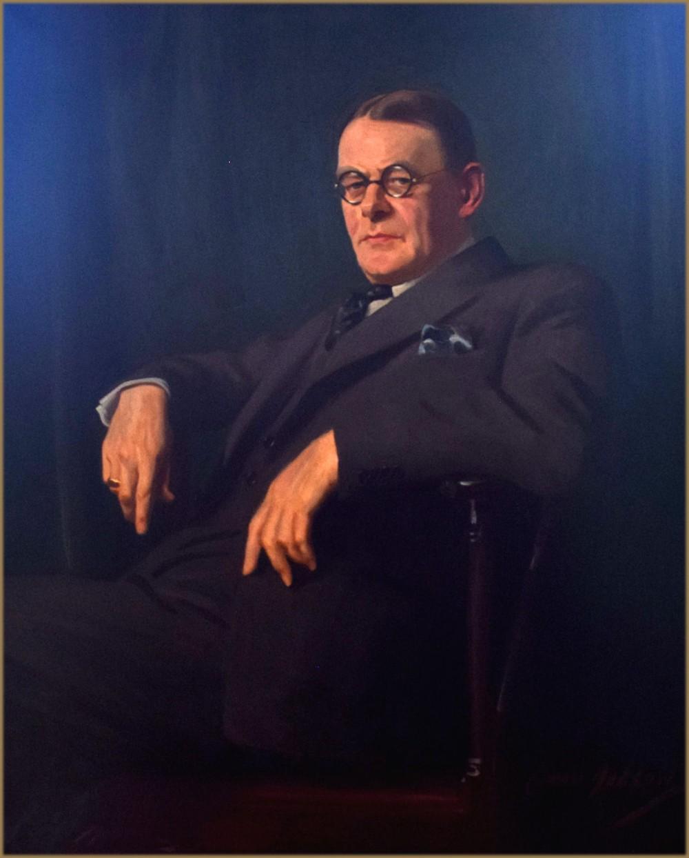 cowan dobson rba rp 1893 1980portrait of sir john alexander hammerton 18711949 writer and editor