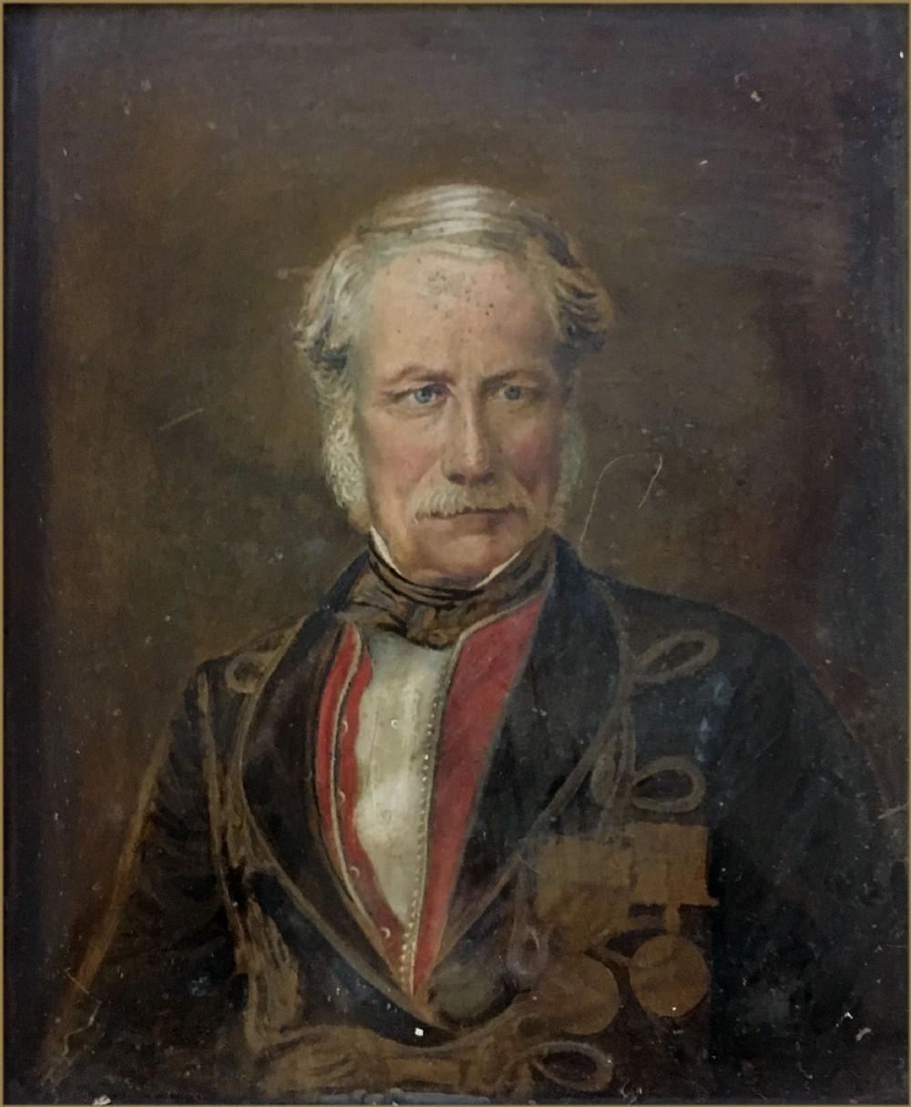 john irvine 18051888portrait of sir john larkin cheese richardson 18101878 in military dress