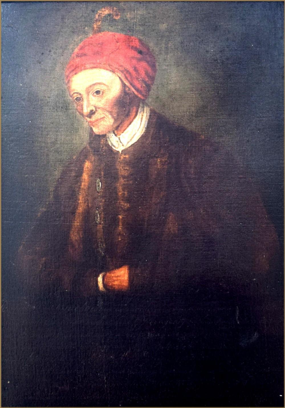english school 18th centuryportrait of jedidiah buxton 17071772 mathematician english mental calculator