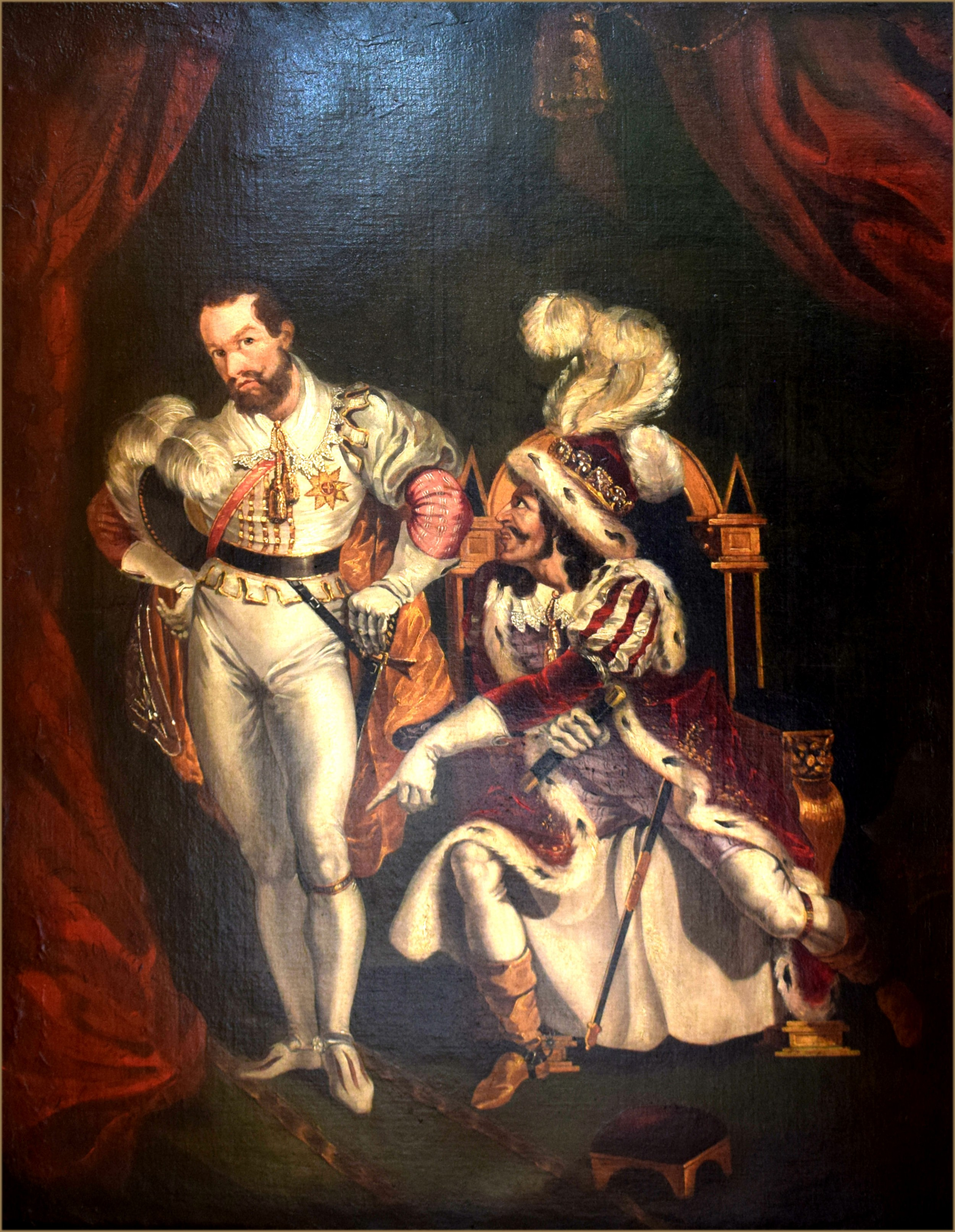 george clint 1770 854portrait of edmund kean 17871833 as richard iii with the duke of buckingham