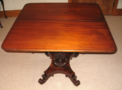 william iv mahogany tea table - photo angle #2