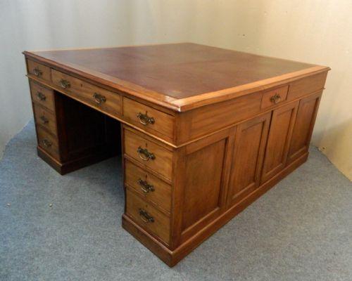 Antique Partners Desk Video Gaming Desk