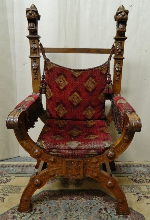 Antique French Style Chair Volume Large Chairs