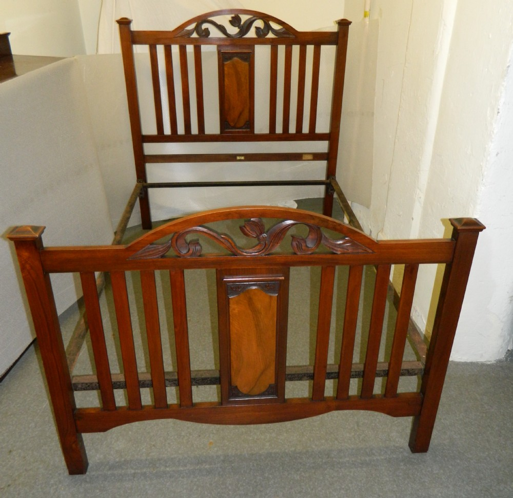 Arts crafts art nouveau double bed 319142 for Arts and crafts beds