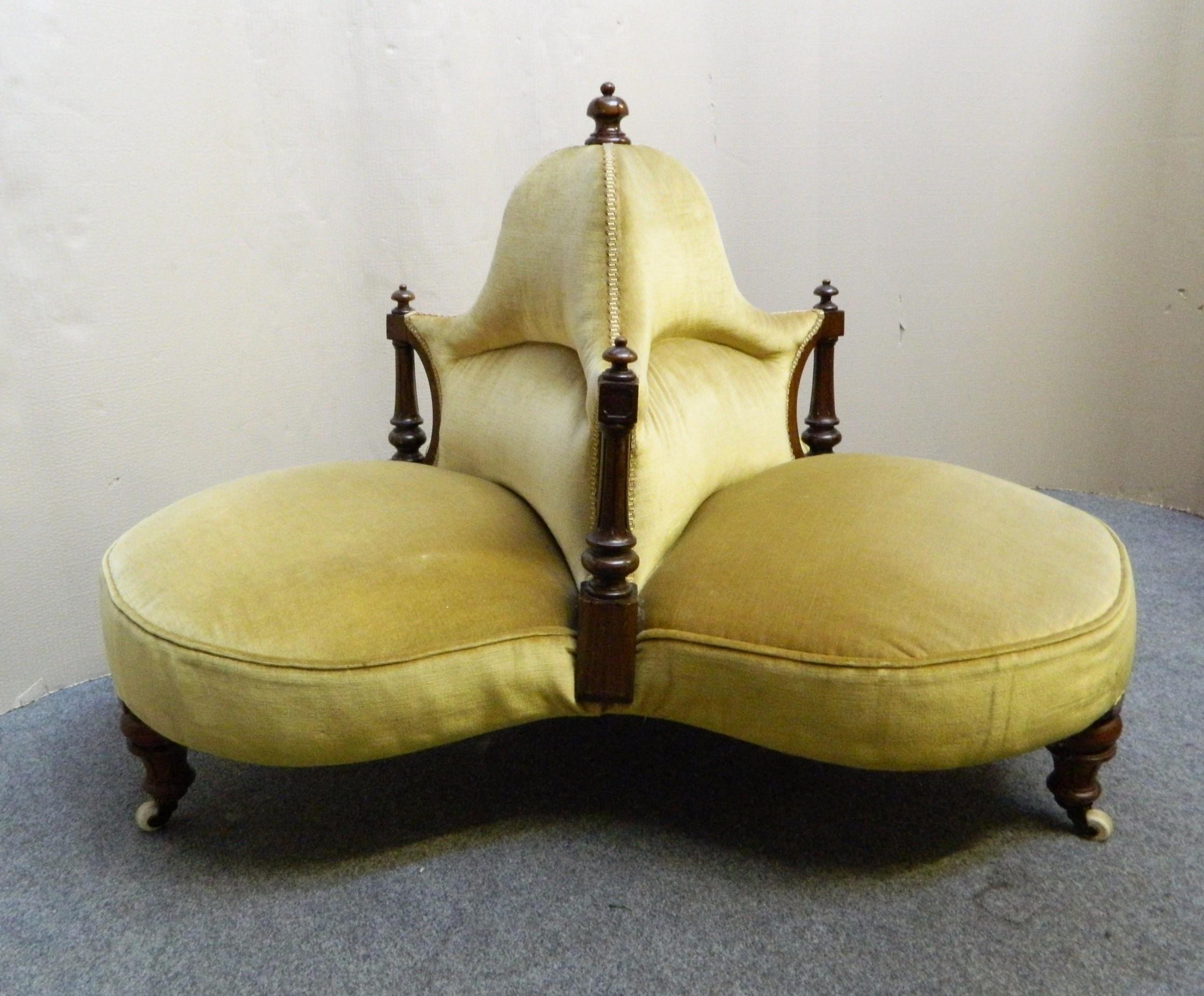victorian conversation seat