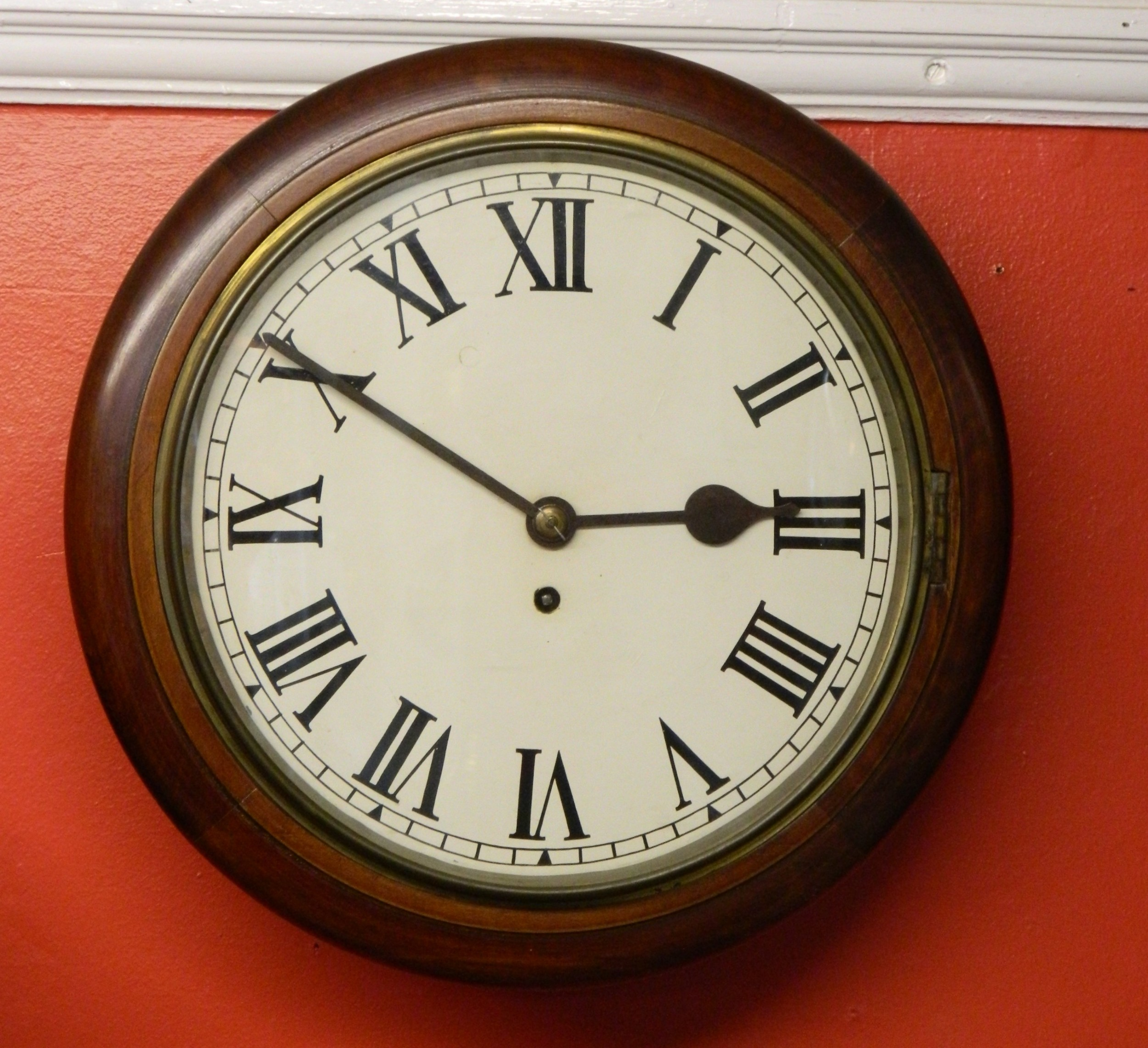 single fusee wall clock stamped astral of coventry h williamson