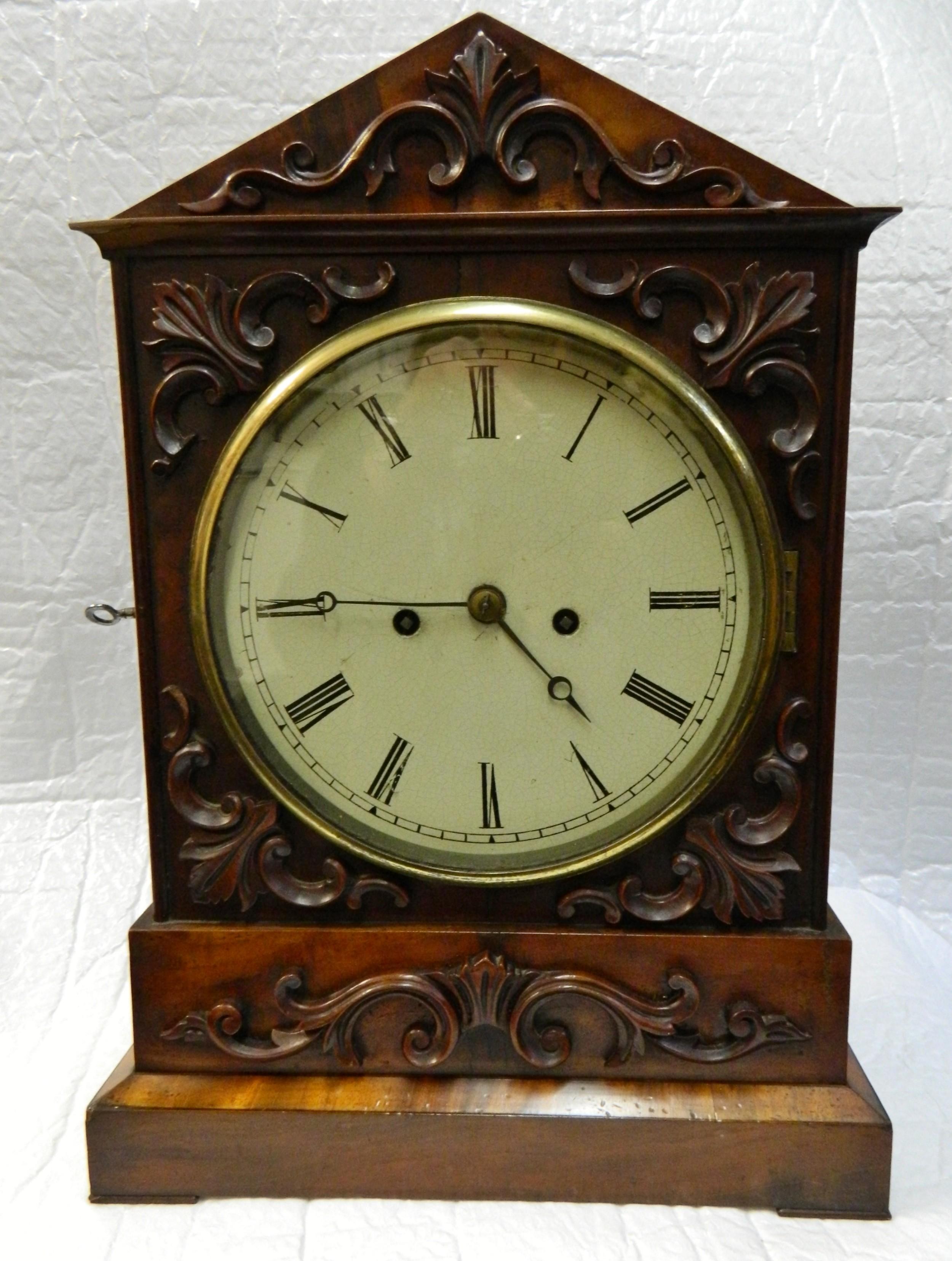regency mahogany bracket clock