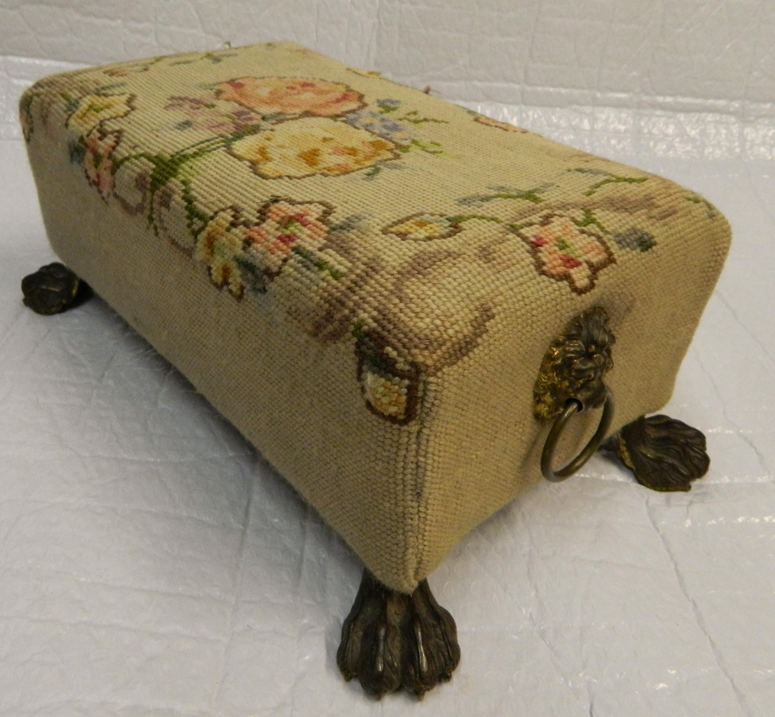 tapestry footstool