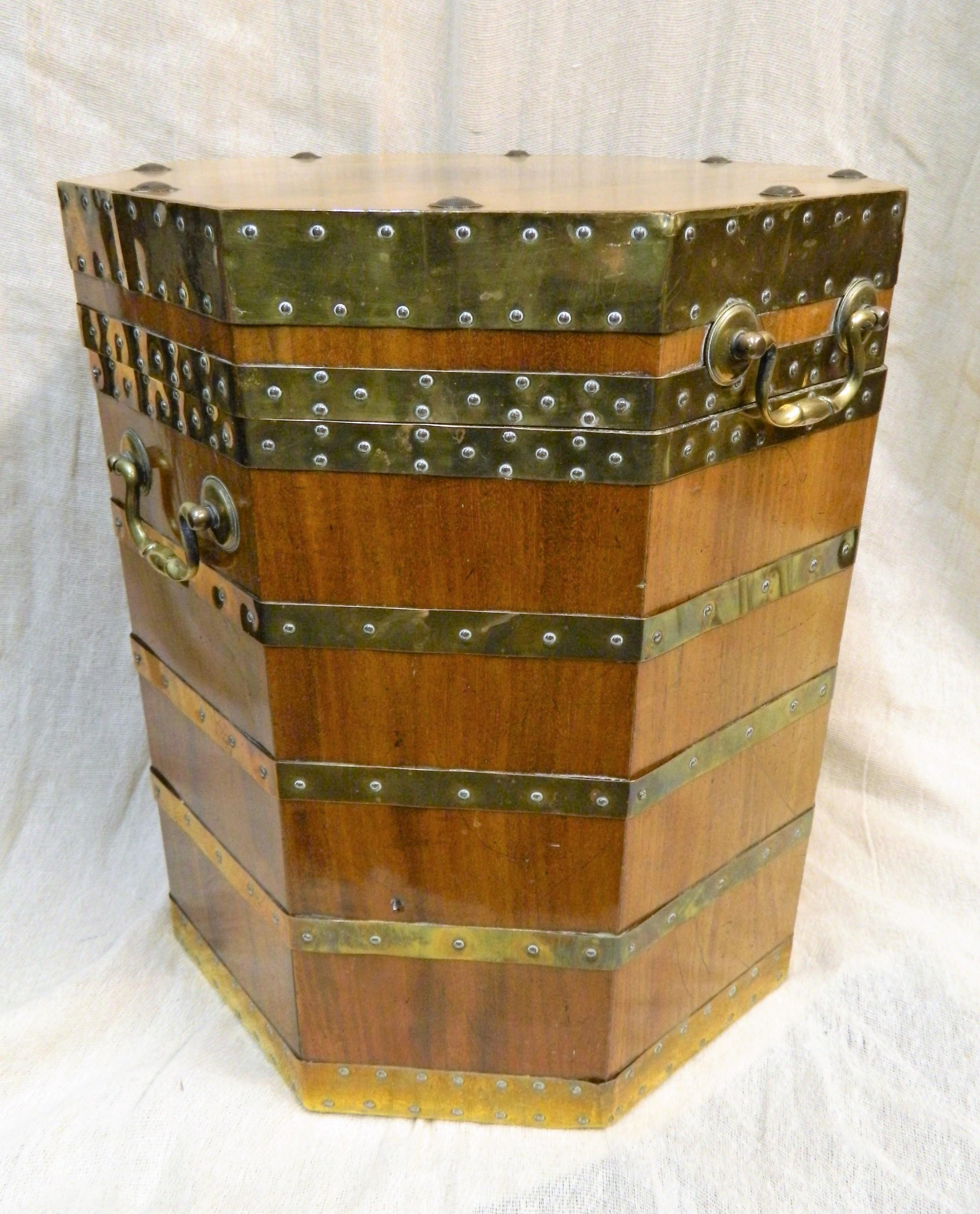 brass bound chest