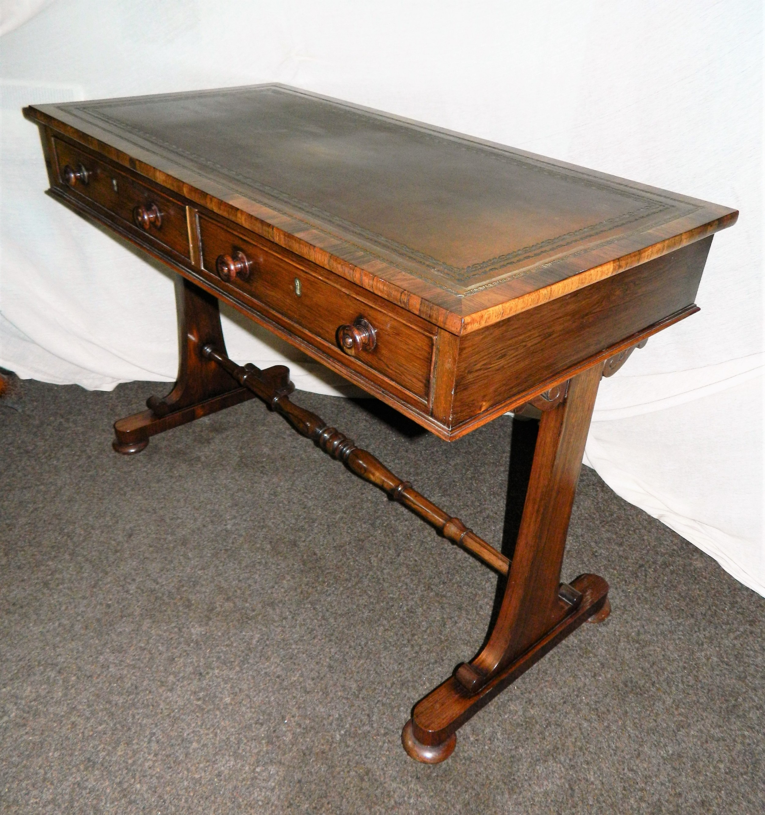 william iv rosewood writing table library table