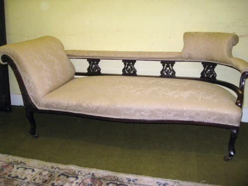 Edwardian mahogany chaise longue 99727 sellingantiques for Antique edwardian chaise longue