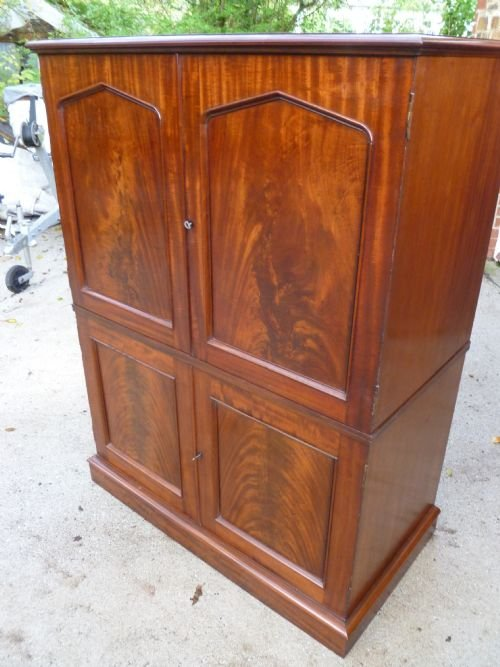 superb 40 drawer mahogany collectors cabinet - photo angle #5
