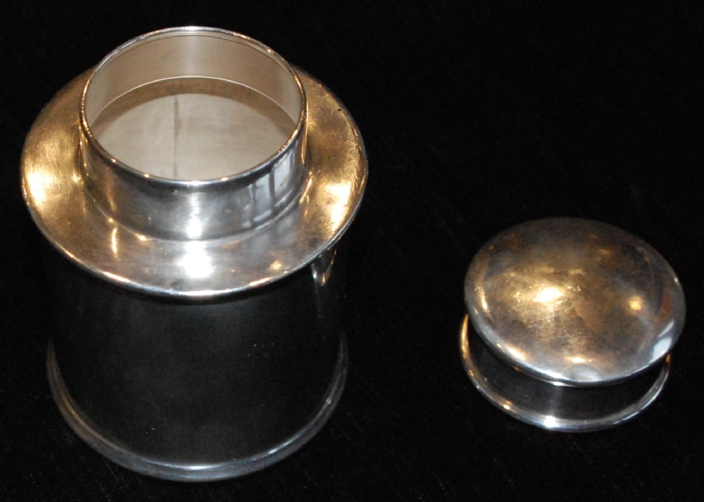 solid silver tea caddy