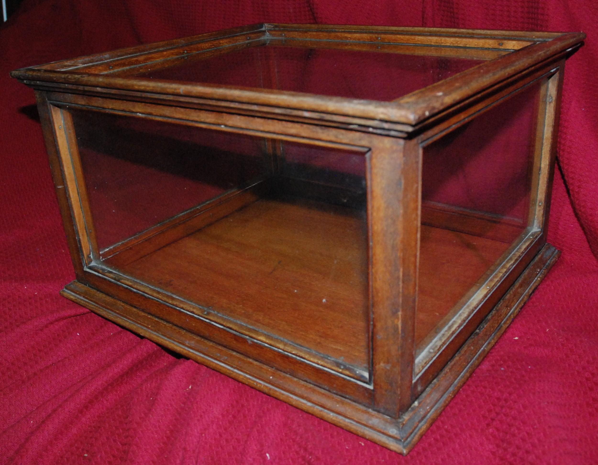 rare edwardian mahogany and glass display case