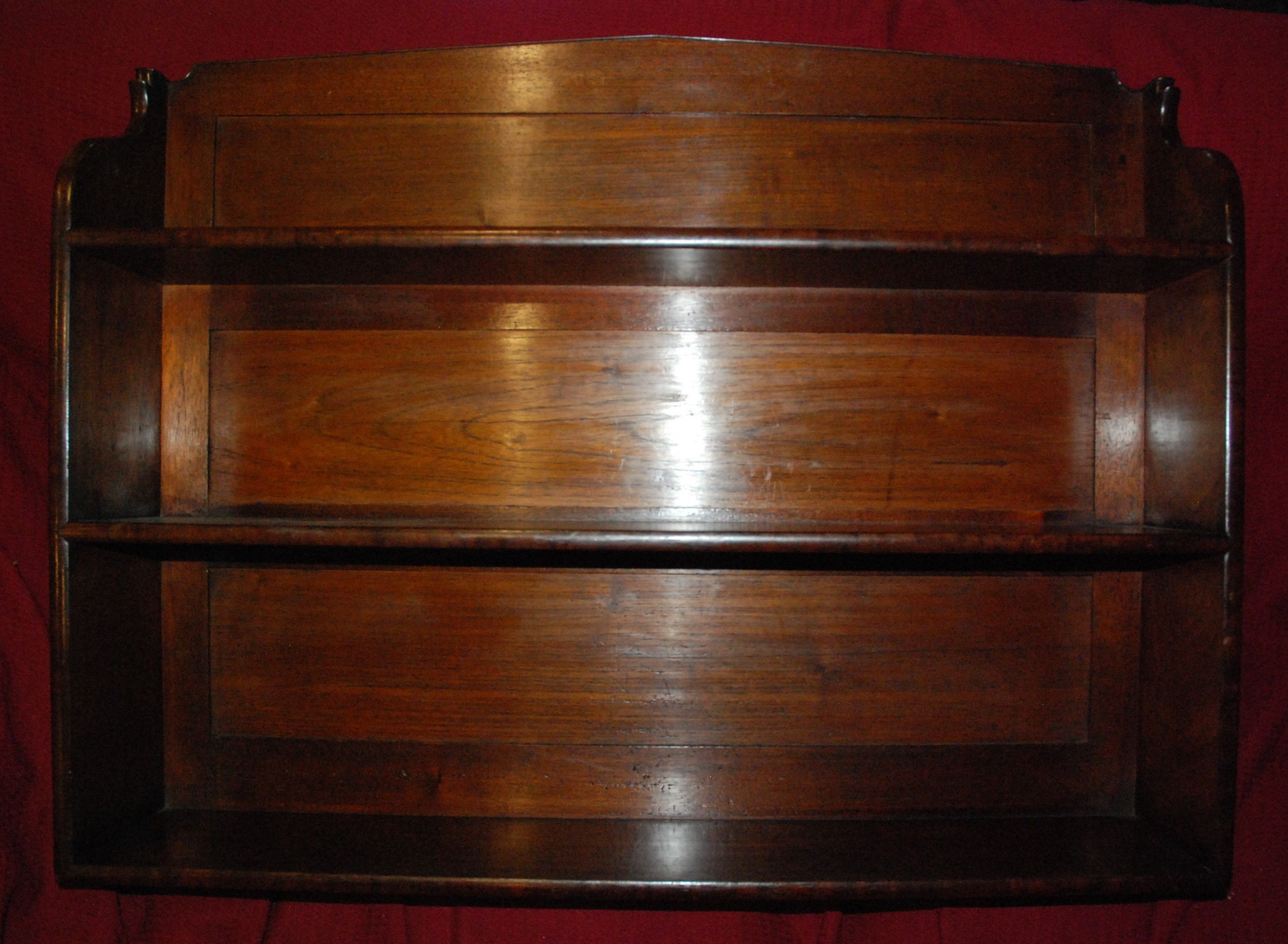 victorian mahogany wall shelves