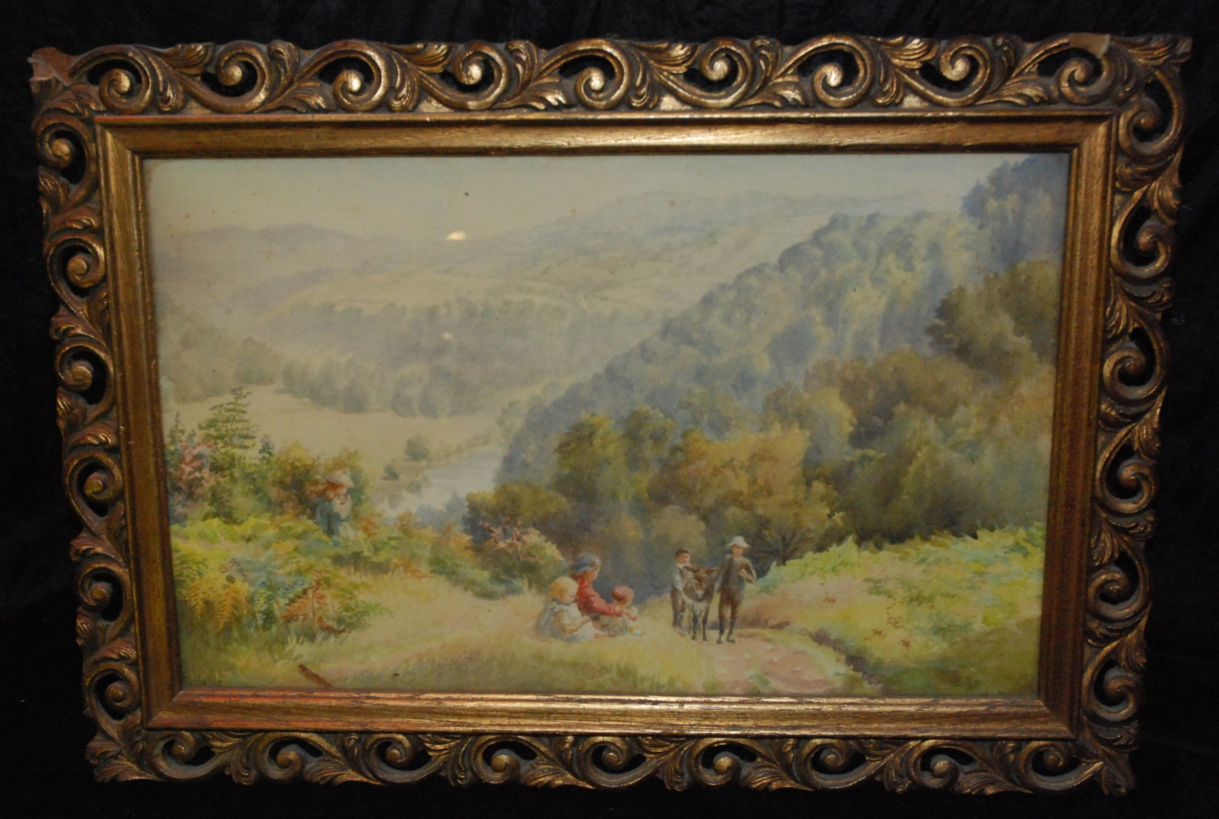 edwardian hollis watercolour heat hangs in the wye valley