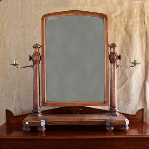 large oak swing mirror