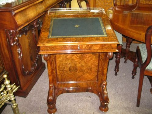 victorian burrwalnut davenport desk - Victorian Burr-walnut Davenport Desk 183802 Sellingantiques.co.uk