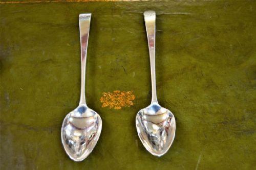pair of 18th century irish silver spoons dublin