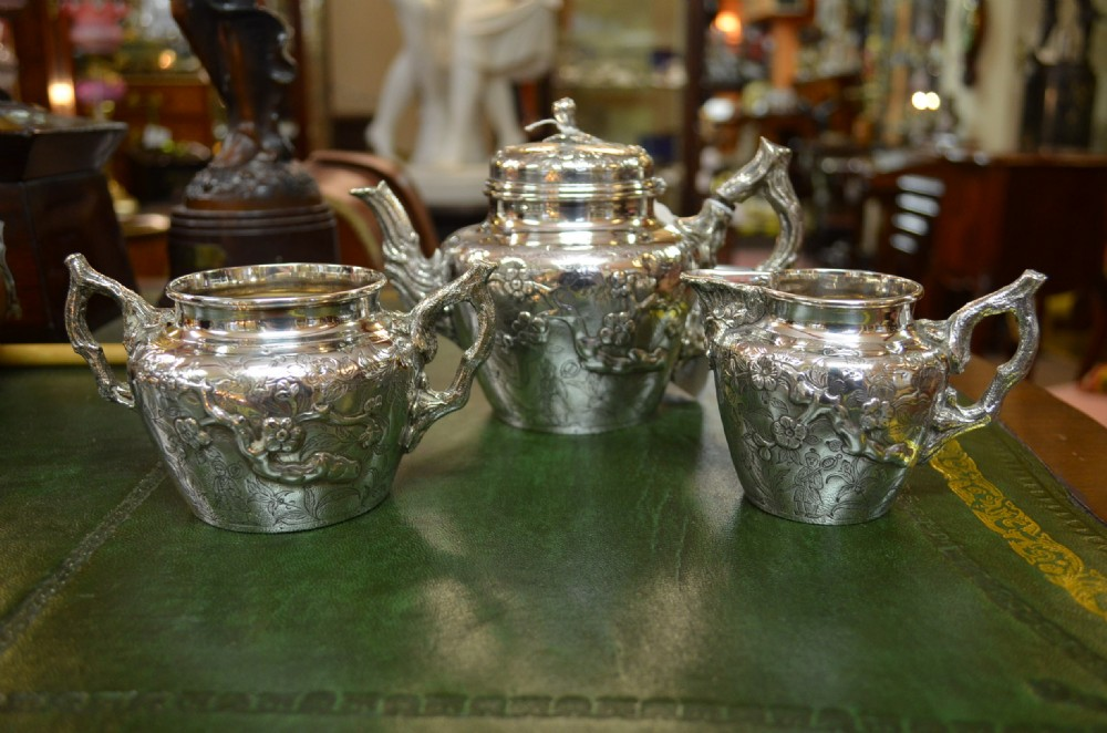 three piece silver tea set london