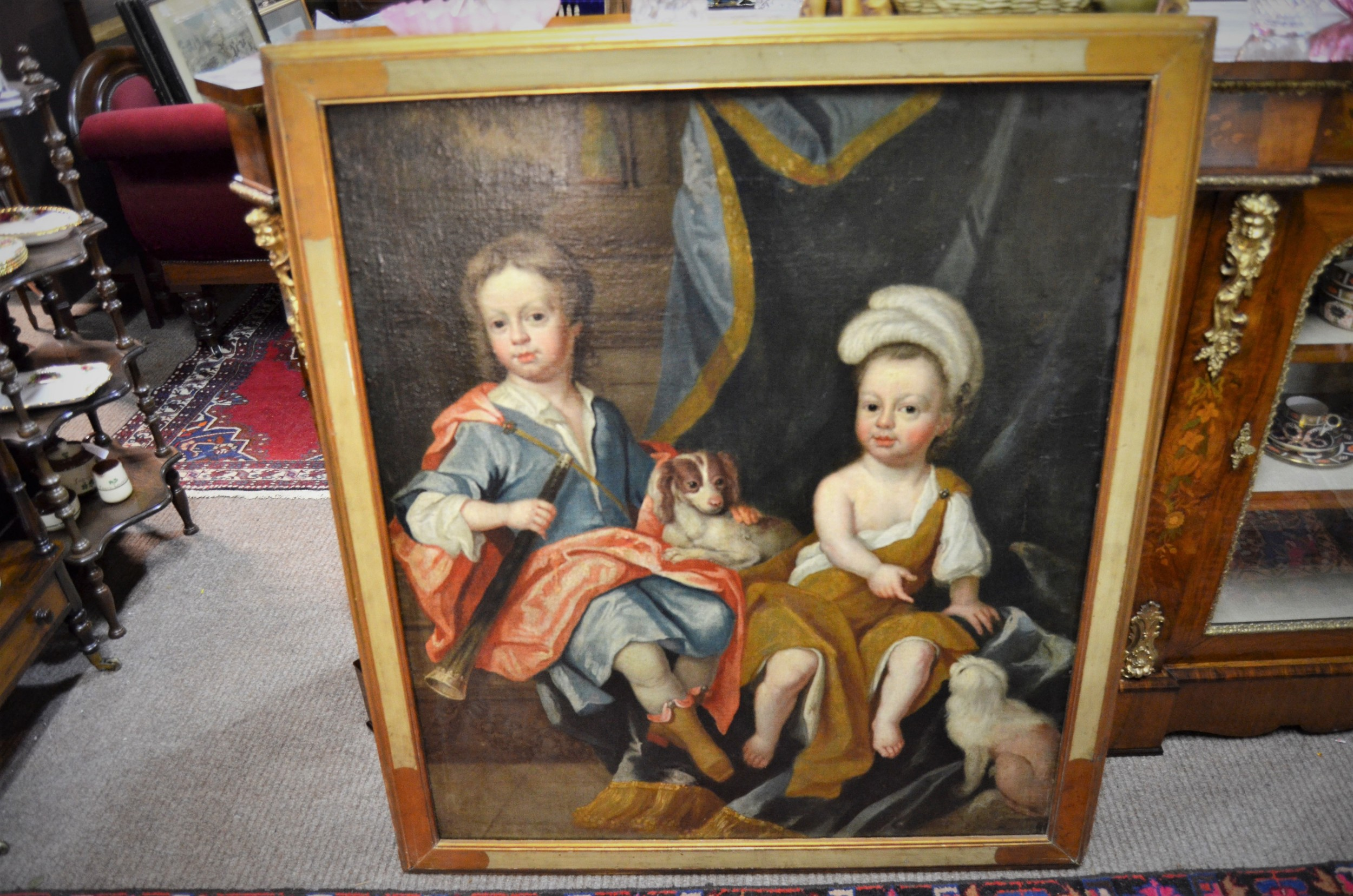 17th century oil on canvas laid down on board